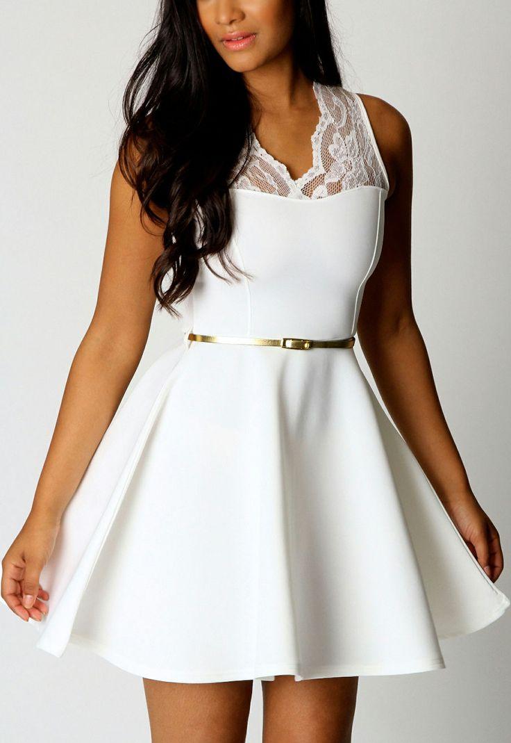 2014 Beyaz Elbise Modelleri
